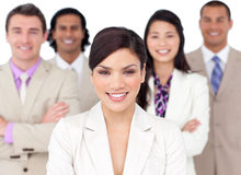 Presentation of a competitive business team Stock Photos