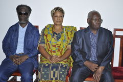 Presentation of condolences to the family of former President Laurent Gbagbo Stock Photography