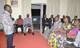 Presentation of condolences to the family of former President Laurent Gbagbo Royalty Free Stock Photo