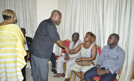 Presentation of condolences to the family of former President Laurent Gbagbo Stock Images