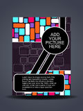 Presentation of creative flyer or cover design. Stock Images