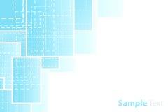 Presentation dashed background. Vector illustration of a presentation sheet corner design. Technological dashed theme Stock Image