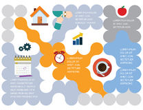Presentation. Design, colorful template with icons Royalty Free Illustration