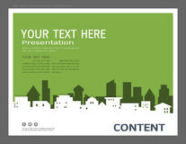 Presentation design template, City buildings and real estate concept, Vector modern background Royalty Free Stock Photo