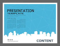 Presentation design template, City buildings and real estate concept, Vector modern background Stock Photos