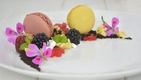 Presentation dessert stock photo