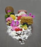 Presentation dessert stock photography