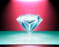Presentation of a diamond Stock Photos