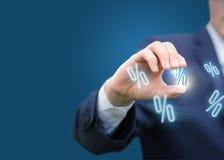 Presentation of discounts. Presentation of discounts concept design Stock Photos