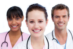 Presentation of a diverse medical team Stock Photos