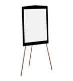 Presentation easel drawing whiteboard. Royalty Free Stock Image