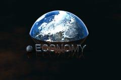 Presentation Economy. 3D Logo Presentation Graphic, Economy Royalty Free Stock Image