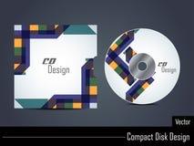 Presentation of elegant colorful cd cover design. Stock Images