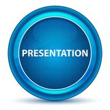 Presentation Eyeball Blue Round Button royalty free illustration