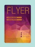 Presentation för affär för räkning för mall för full färg för broschyrdesign Royaltyfria Bilder