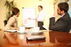 presentation för affärsfokuspalmtop Royaltyfria Foton