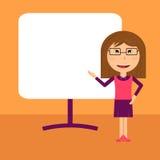 Presentation för affärskvinna stock illustrationer