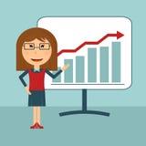 Presentation för affärskvinna royaltyfri illustrationer
