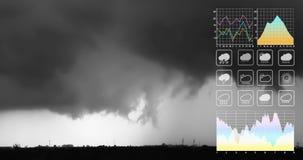 Presentation för data för symbol för väderprognos arkivbilder