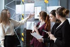 Presentation för företags strategi för affärsmöte royaltyfri bild
