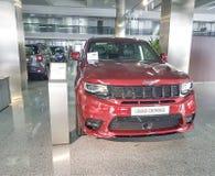 Presentation för jeep för visningslokal för bil för Ukraina Kiev Januari 21 2018 begreppsbil royaltyfri foto