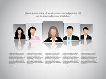 Presentation för lag för affärsfolk. Royaltyfri Bild