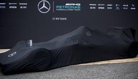 PRESENTATION 2016 FÖR SÄSONG F1 AV DET MERCEDES AMG F1 LAGET Fotografering för Bildbyråer