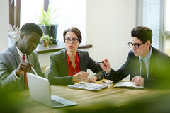 Presentation of financial project stock photo