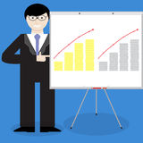 Presentation of financial report gold silver money Royalty Free Stock Photography