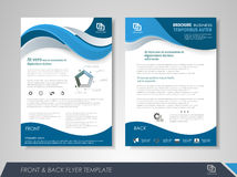 Presentation flyer concept Stock Photography