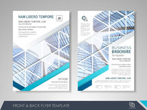 Presentation flyer design Stock Photos