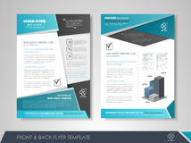 Presentation flyer design Royalty Free Stock Image