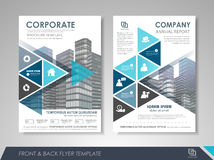 Presentation flyer design template Royalty Free Stock Images