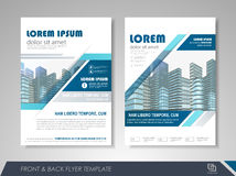 Presentation flyer design template. Front and back page annual report brochure flyer design vector template. Leaflet cover presentation abstract background for Royalty Free Stock Photography