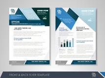 Presentation flyer design template Royalty Free Stock Photos