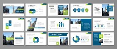 Presentation flyer set Stock Illustration