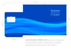 Presentation Folder A4 Cutter Guide, Die Cut, 4mm Capacity with Royalty Free Stock Photo