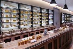 Presentation fragrances perfume to the perfume factory Fagonard stock images