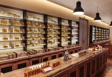 Presentation fragrances perfume  to the perfume factory Fragonar Stock Photography