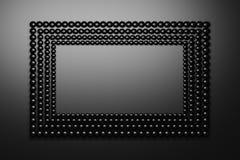 Presentation Frame Made Of Black Shiny Spheres Balls Stock Images