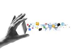 Presentation of gadget Stock Photo