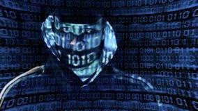 Presentation of a Hacker stock footage