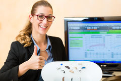 Presentation of hearing aid Stock Photography