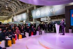 Presentation of Huawei product line president Jeff Wang Stock Photos