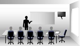 Presentation i styrelsen Arkivbild