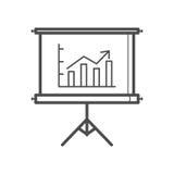 Presentation icon. Outline presentation icon ,  illustration for web design etc Stock Photo