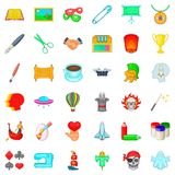 Presentation icons set, cartoon style Royalty Free Stock Photography