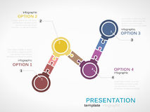 Presentation. Infographic template with colorful bullet graph Royalty Free Stock Photos