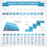 Presentation infographics charts for finance. Presentation infographics charts for financial measures and annual performance reports vector illustration Stock Image
