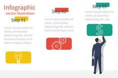Presentation information structure vector illustration